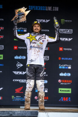 Jason Anderson wins 3rd place at the 2020 Salt Lake City 3 Supercross Race