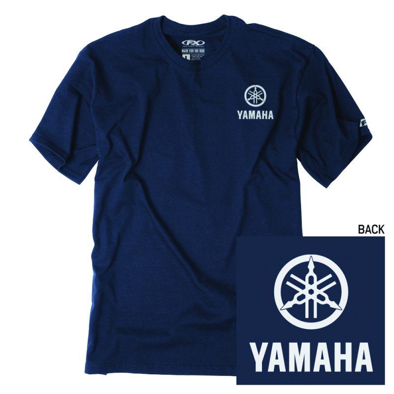 navy Yamaha t-shirt