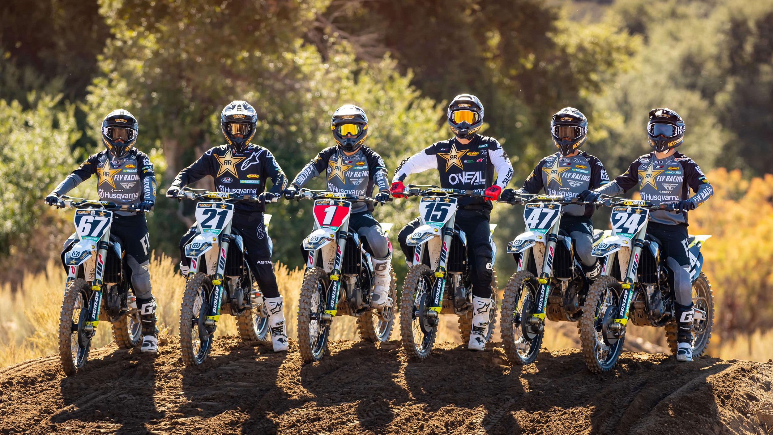 2021 Team Rockstar Energy Husqvarna riders