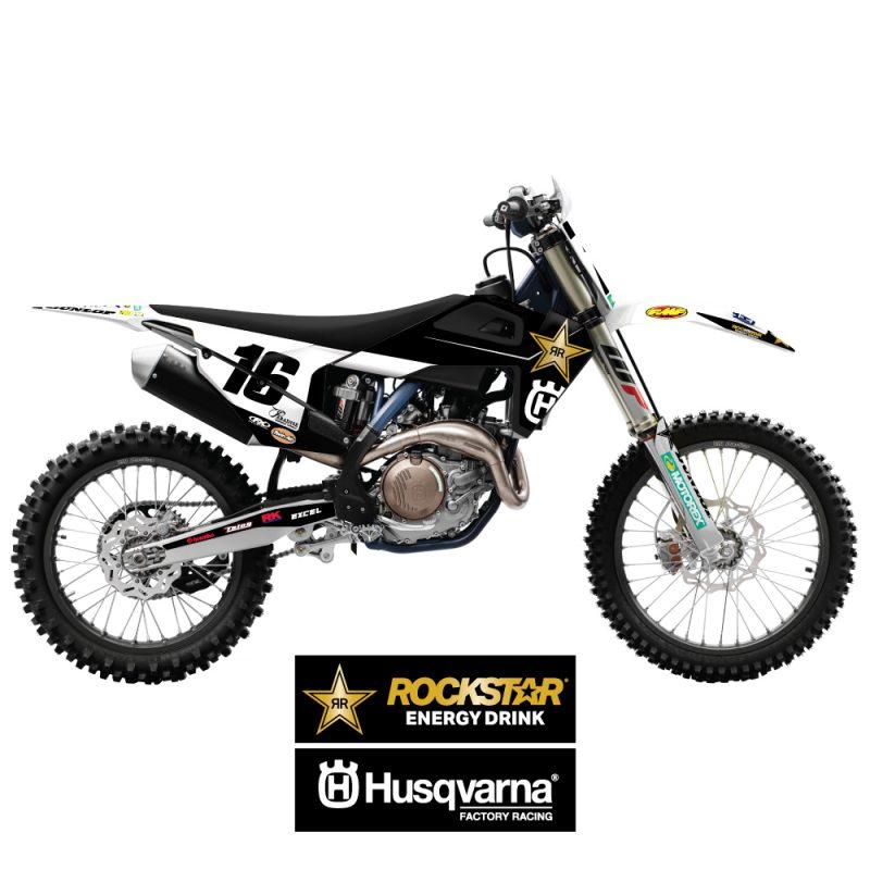 Rockstar Husqvarna Team Edition Bike graphic kit