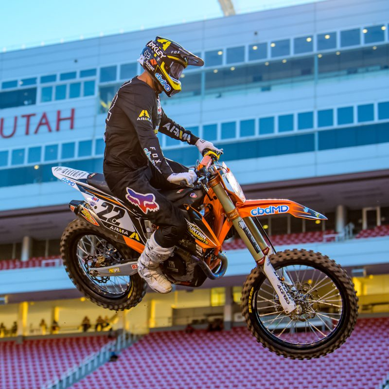 Chad Reed racing supercross in 2020