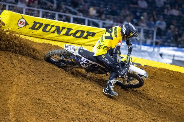 Jason Anderson racing at Arlington Supercross